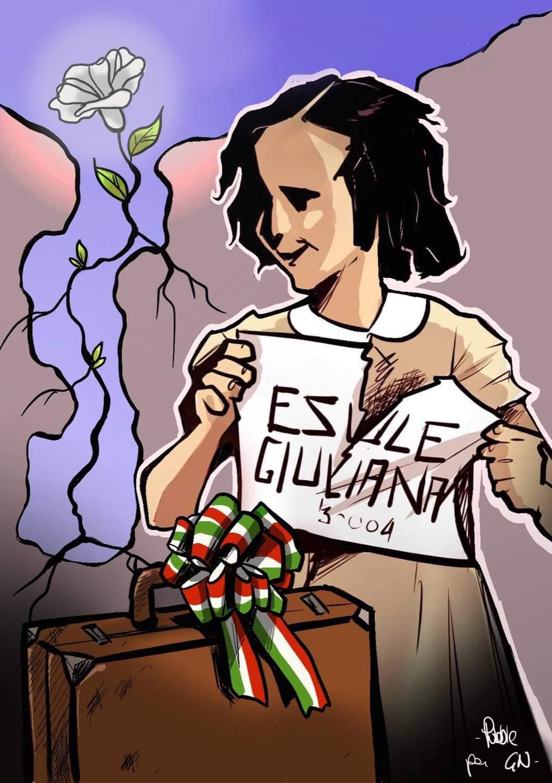 Vignetta realizzata da Pubble per Gioventù Nazionale in occasione del Giorno del Ricordo.